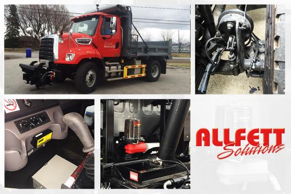 Automatic greasing system - Snow removal truck